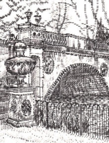 Keira_Rathbone_typewriter_art_Chiswick_House_Bridge_card