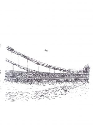 Keira_Rathbone_Why_I_Love_Hammersmith_Bridge_in_Under_100_Words_limited_edition_Print