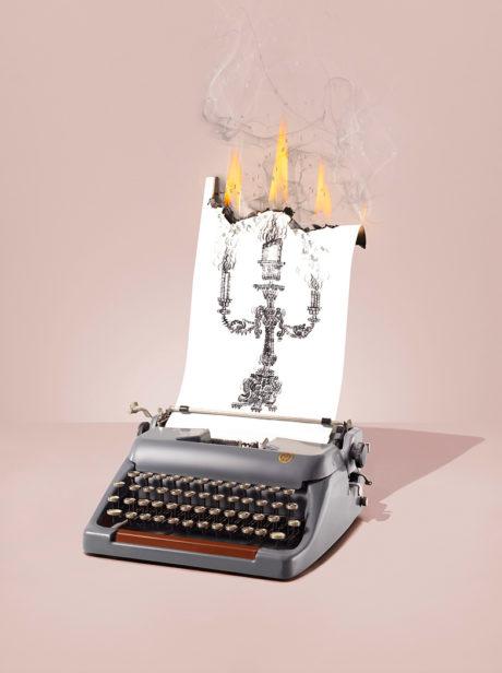 Typewriters-fire