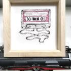 Keira_Rathbone_NOTHS_Cassette_Personalised_Print_pine_frame