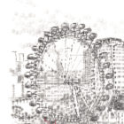 Keira_Rathbone_typewriter_art_big_ben_london_eye_Original_PRINT_detail1