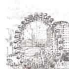 Keira_Rathbone_typewriter_art_big_ben_london_eye_Original_PRINT_detail1
