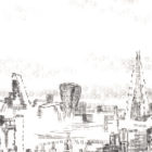 Keira_Rathbone_typewriter_art_big_ben_london_eye_Original_PRINT_detail2