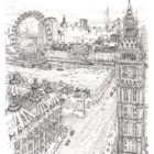 Keira_Rathbone_typewriter_art_big_ben_london_eye_Original_PRINT_web