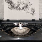 Keira_Rathbone_Original_Typewriter_Art_Honeysuckle_in_typewriter_web