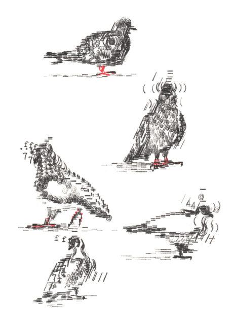 Keira_Rathbone_Original_Typewriter_Art_Pigeons_in_Lockdown_on_steps_outside_National_Gallery_May_2020_CARD_web