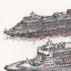 Keira_Rathbone_Original_Typewriter_art_3_Queens_Cunard_detail1