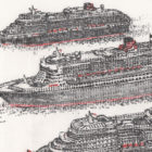 Keira_Rathbone_Original_Typewriter_art_3_Queens_Cunard_detail5