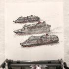 Keira_Rathbone_Original_Typewriter_art_3_Queens_Cunard_in_typewriter