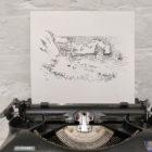 Keira_Rathbone_Original_Typewriter_art_durdle_door_2018