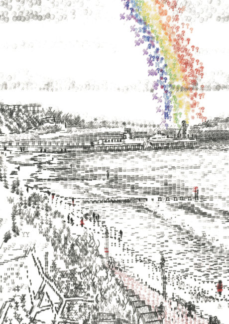 Keira_Rathbone_Typewriter_Art_Bournemouth_Pier_Rainbow_a_la_Leila_Al_Ford_CARD_web