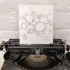 Keira_Rathbone_Typewriter_Art_Bubbles_in_2020_photo