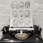 Keira_Rathbone_Typewriter_Art_Lockdown_Hair_Original_2020_in_typewriter