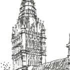 Keira_Rathbone_Typewriter_Art_Original_Salisbury_Cathedral_IMpression_PRINT_detail1