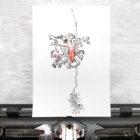 Keira_Rathbone_Typewriter_Art_Original_schizopetalus_Type_of_hibiscus_in_typewriter