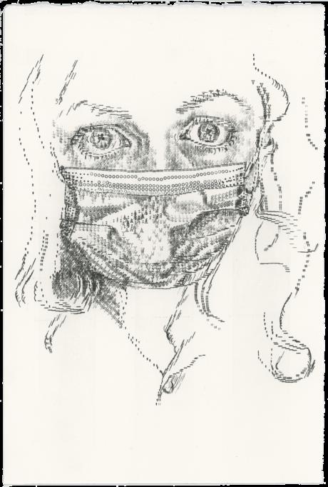 Keira_Rathbone_Typewriter_Art_Self_Portrait_With_Mask_Sept_2020_web